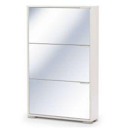 Обувница VIVA 3 Белый/Зеркало